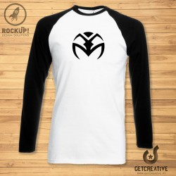 T-Shirt Raglan Black Long Sleeve